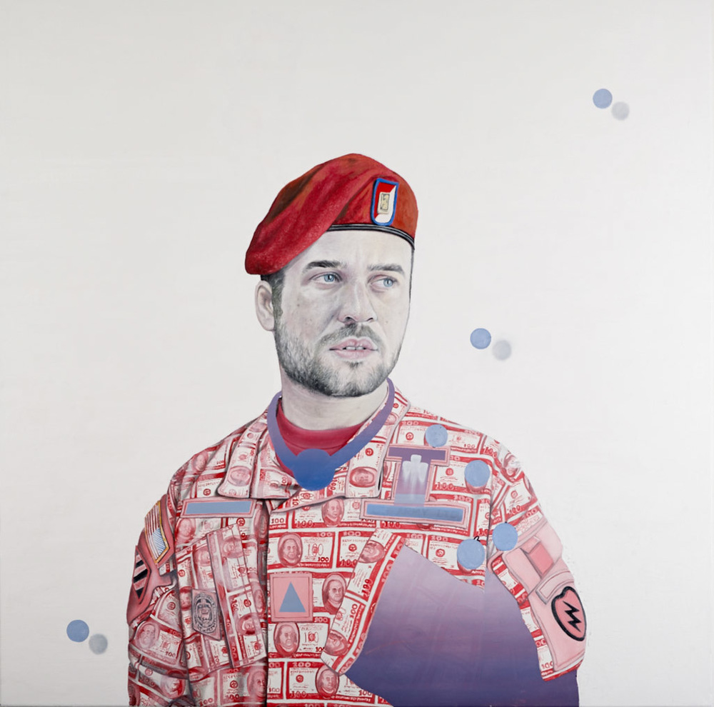 Capitalistic Soldier - Oil on Canvas - 100cm x 100cm