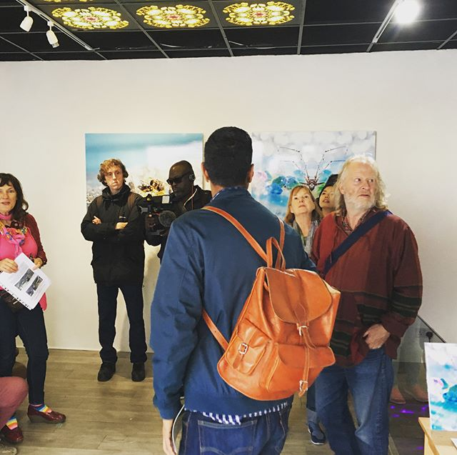 Nice little visit from #Ealing walking, talking & exploring group! #strangelands #exhibition is on till 13th Oct 🌟