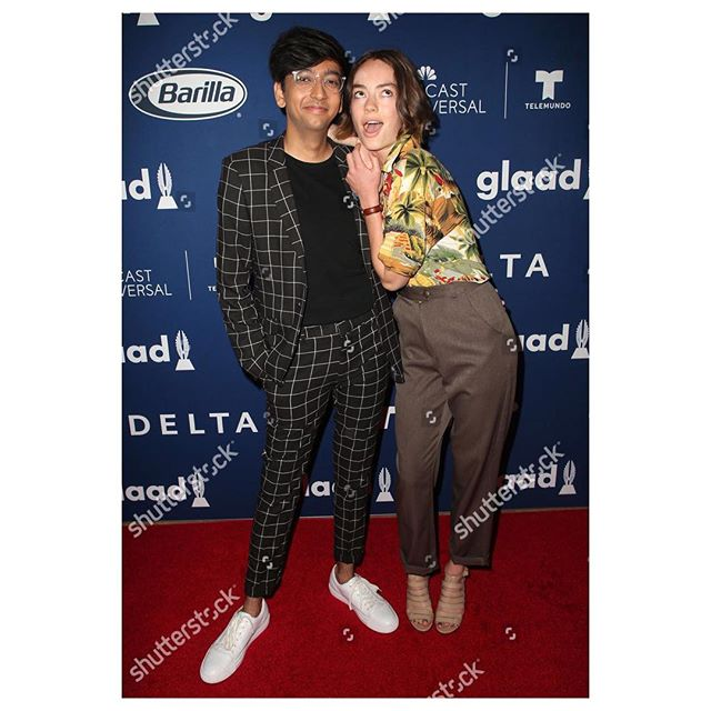 gaytypical • celebrating @leahjuliett, @giobravo_eltransformer and @shaynamaci with @glaad • styled by @micahmarcus 🏳️‍🌈
