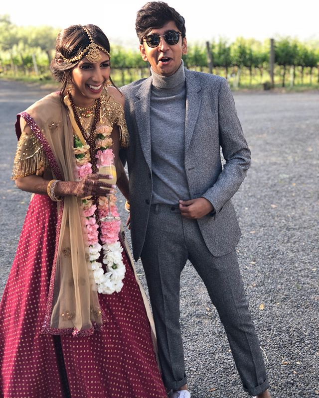 Komal of House Patel, Not First of Her Name, the Sunburnt, Queen of the Sandals and the First Men, Khaleesi of the Great Grass Tree, Breaker of Chains, and Mother of Nellodee. Congratulations to you and Brent! ❤️👰🏽 #NotPatelForLong
