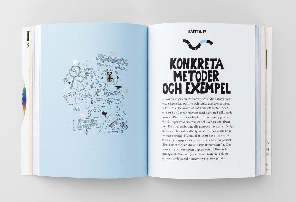 Exempelsida från boken Jakten på Känslan. Kapitel 4 - Konkreta metoder och exempel.