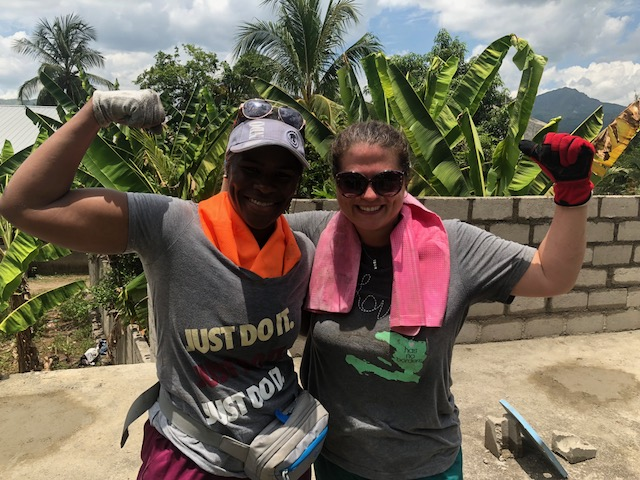 Some of the guys from the Haitian work crew called Margaritta and I the strongest American women they had ever seen. :D We milked that comment a long time...actually, we are still milking it. lol