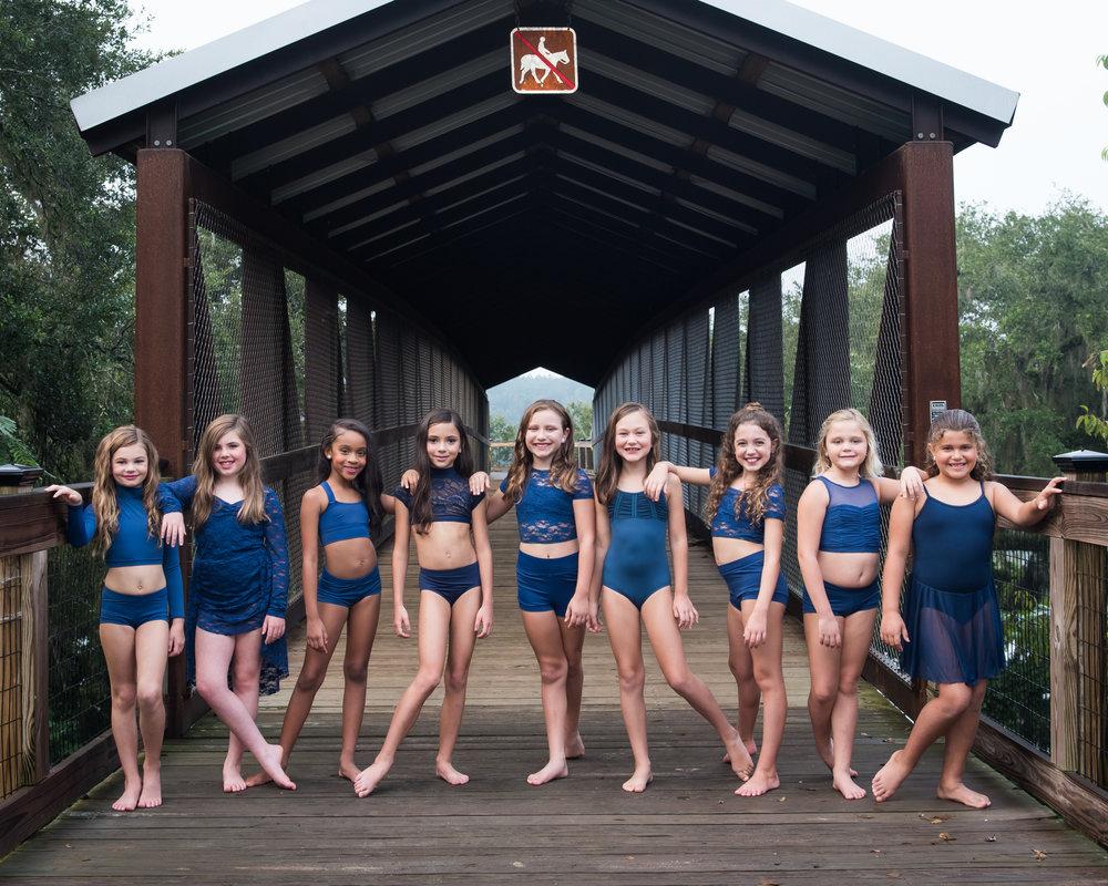 Junior Company 2017-2018 (Left to Right) Raquel, Savannah, Taylor, Kimber, Kaley, Madison, Elena, Ashtyn, Layla