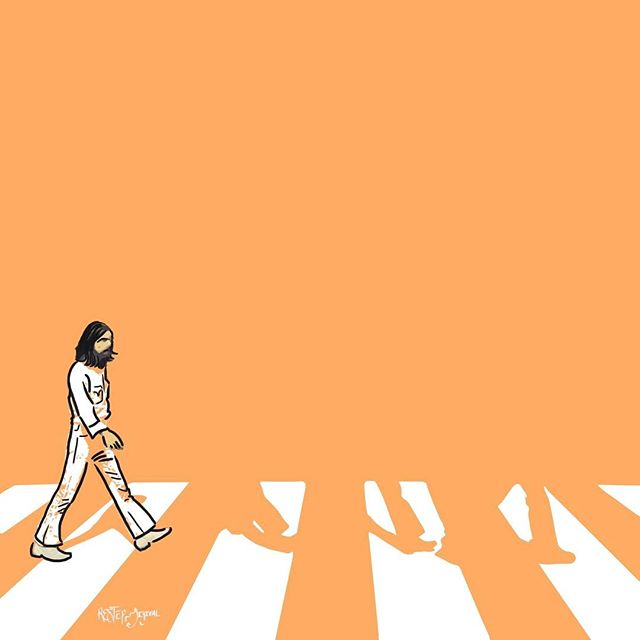 A b b e y R o a d 🎸 (1/5) - Beatles on the crossing is arguably one of the most famous and imitated alubm sleeves in recording history. Taking it on one Beatle at a time in five posts this week. Follow along and catch the full cover Friday! #george #beatles #abbeyroad #orange #monday #design #illustration #illustrator #classicrock #band #music #art #photogrid #photoshop #sketch #drawing #graphicdesign #graphic #graphicart #logos #like4like #followback #like #sketch #adobe #inspiration #pantone #graphicroozane