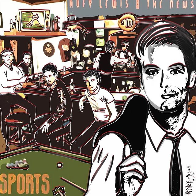 S p o r t s 🎸 (2/2) - album sleeve for 1983's Sports featured a photo of the band at a bar in Mill Valley, California where they had performed in their early days. #behance #dribbble #graphicdesigncentral #graphicgang #graphicdesignblg #adobe #picame #artdirection #visualart #portfolio #creative #creativity #americanpsycho #designporn #designing #modern #contemporary #designinspiration #music #hueylewis #like4like #followback #graphicdesign #graphicdesigner #graphic #graphics #design #designer