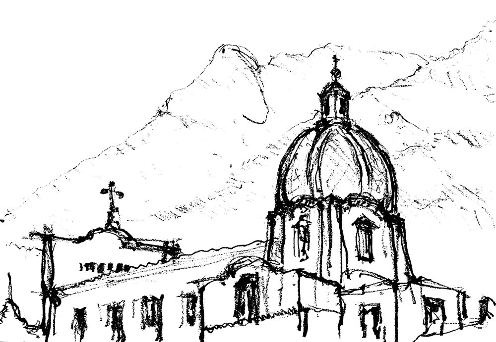Positano Church and Lattari Mountains.jpg