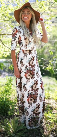Michelle Maxi Modest Dress