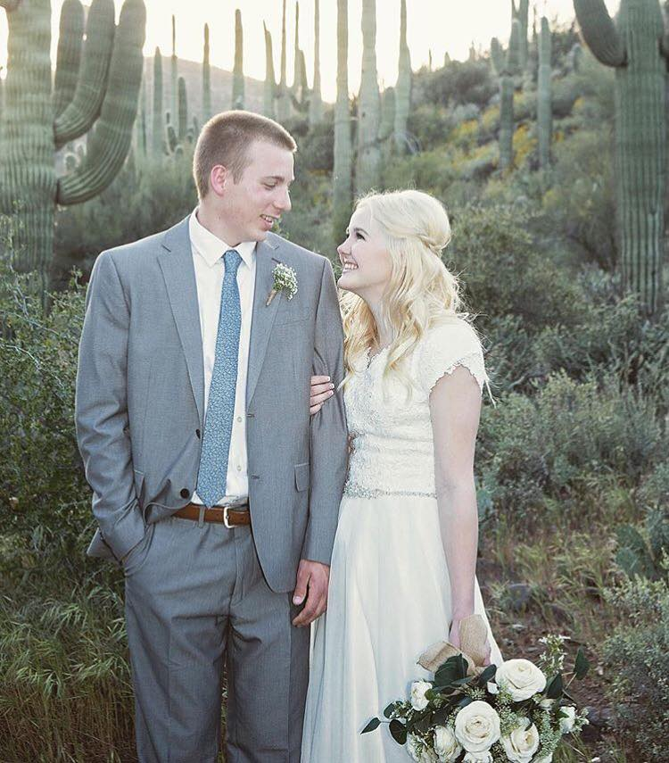 Check Out Jessicas Beautiful Allure Gown She Is Such A Gorgeous Bride So Fun To See Pictures Of Brides Who Found Their Modest Bridal Dress At Our Store