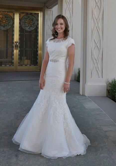 Sierra is gorgeous in her Modest Wedding Dress!