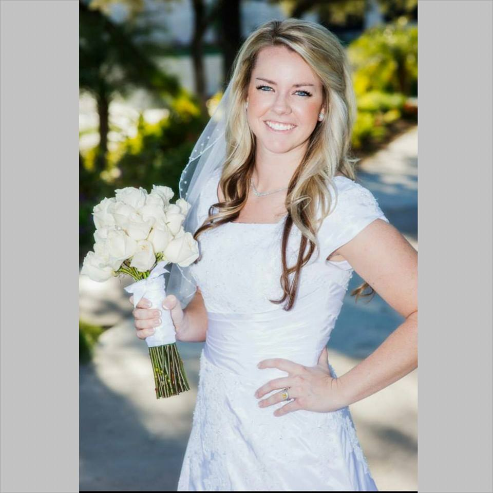 Ashley's beautiful modest wedding dress