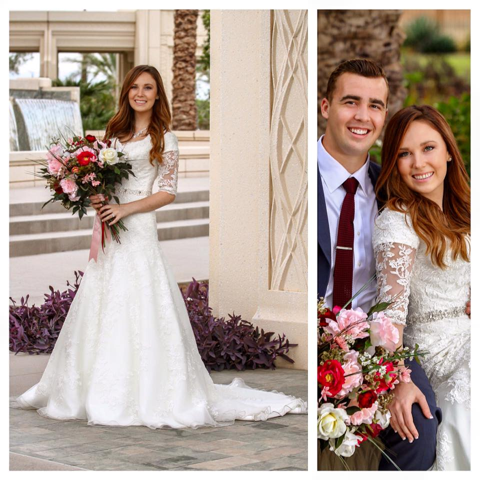 Kendal's Special Day in her gorgeous modest wedding dress