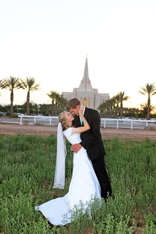Jill's gorgeous modest wedding dress