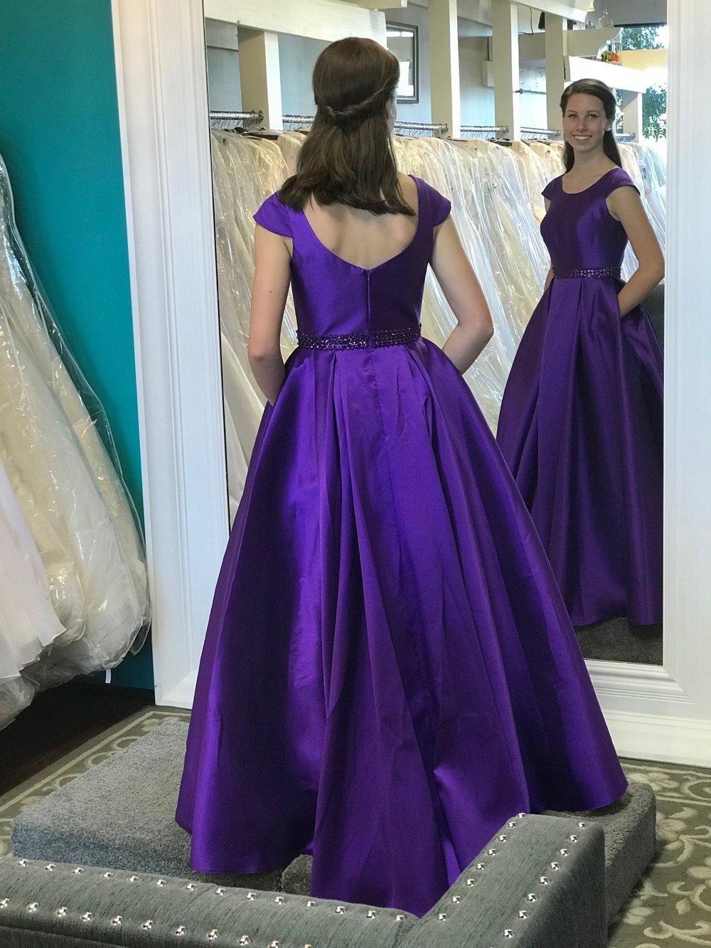 Allure 18-801 Purple Modest Prom