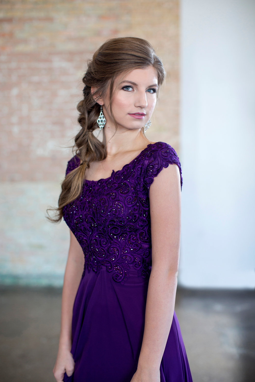 Colette CLM18337 Plum Modest Prom