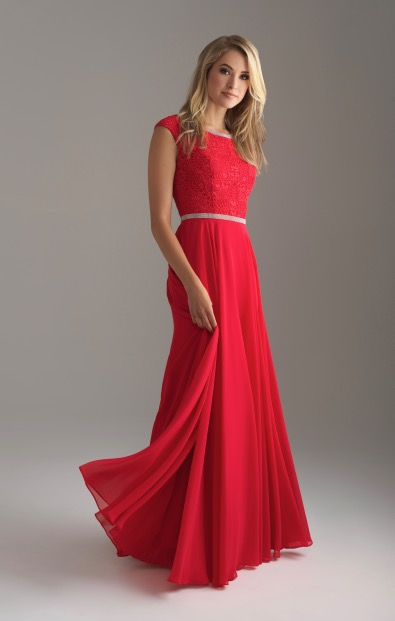 Allure 802 Red Modest Prom