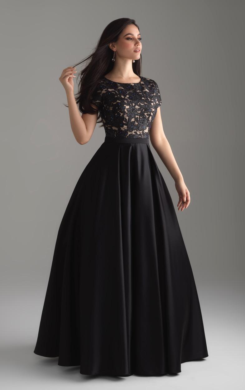 Allure 804 Black Modest Prom