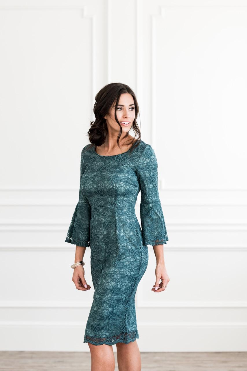 April Dress Aqua