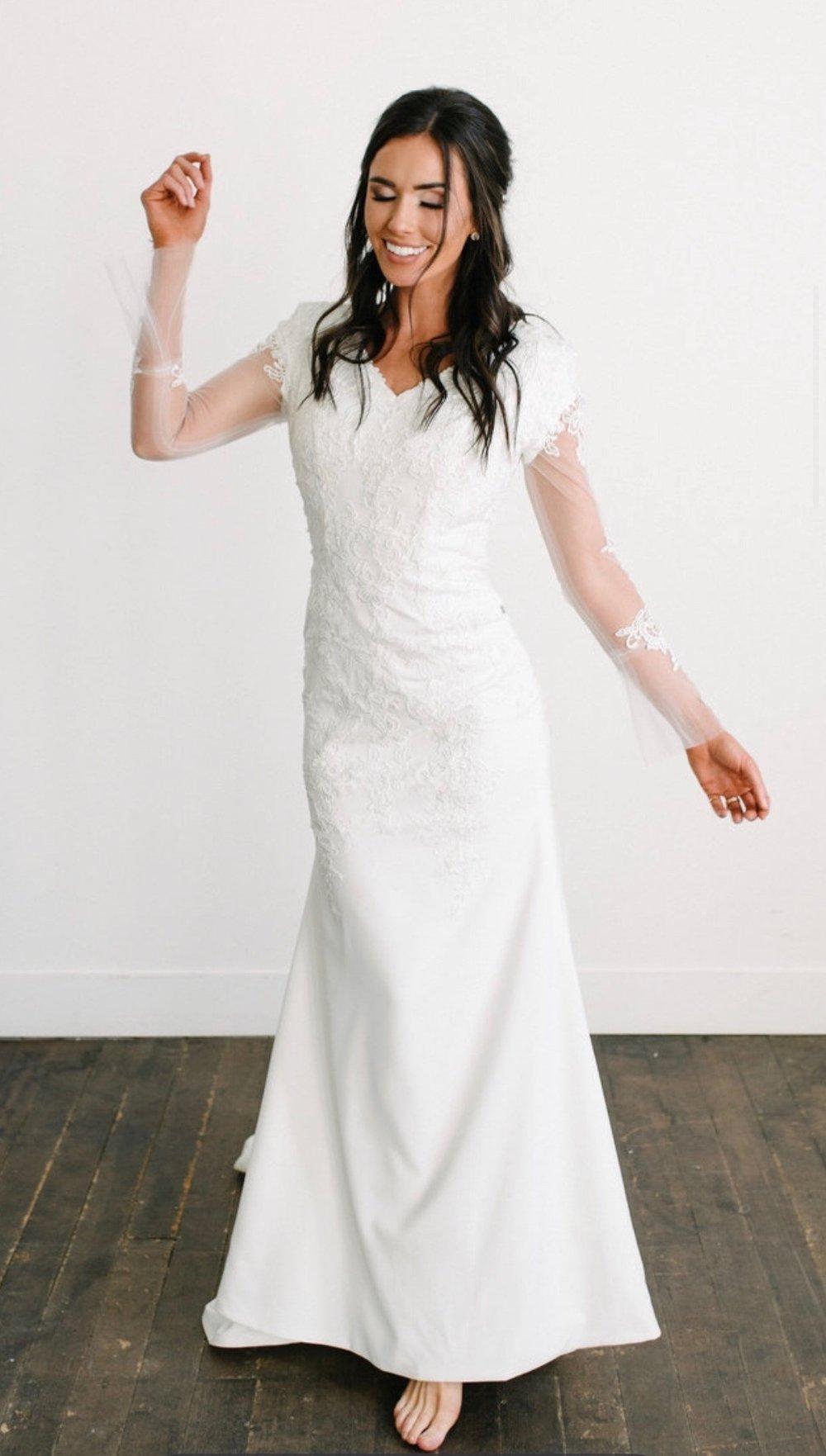 Alaia Modest Wedding Dress