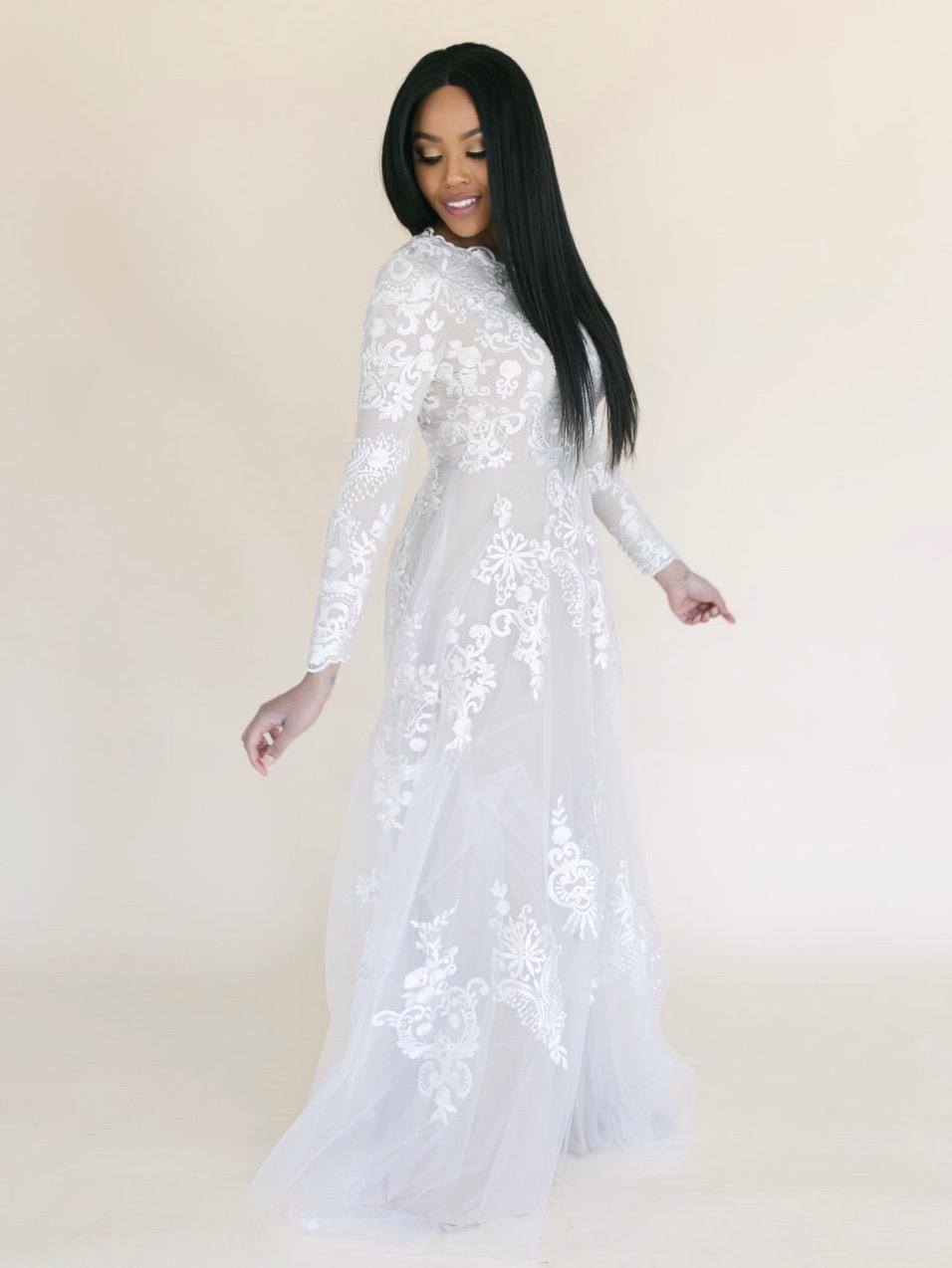 LeiLani Modest Wedding Dress