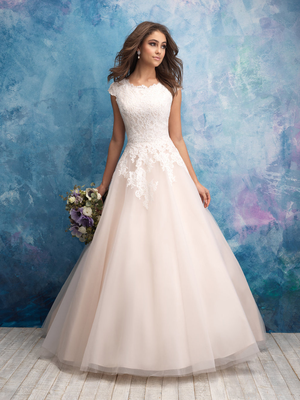 Allure M601 Modest Wedding Gown
