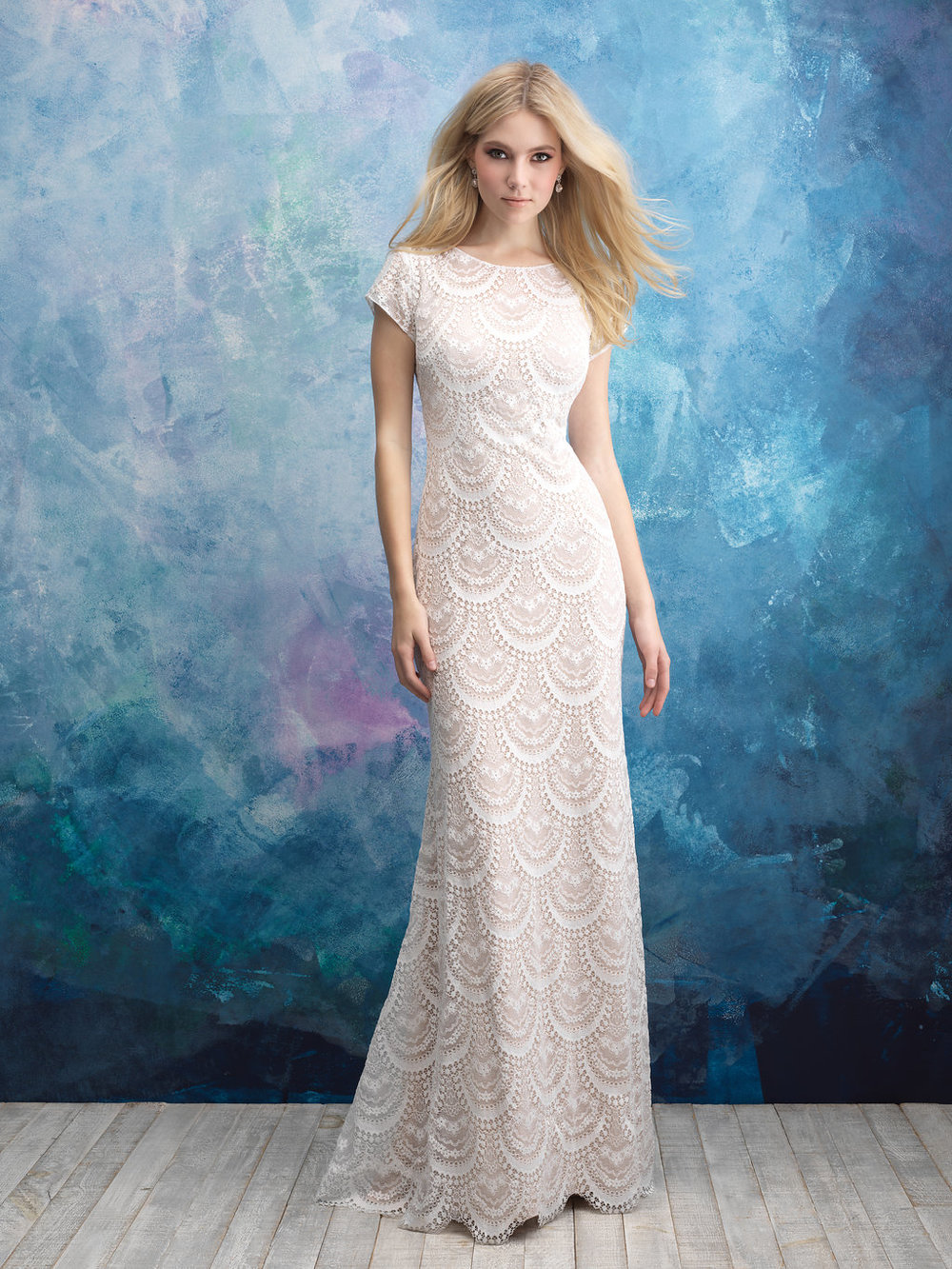Allure M600 Modest Wedding Dress
