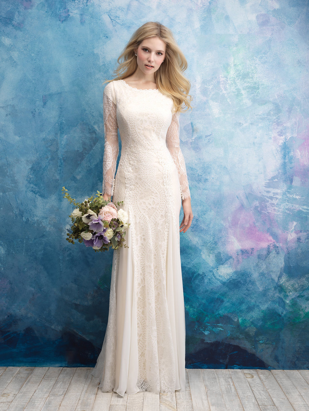 Allure M602 Modest Wedding Gown