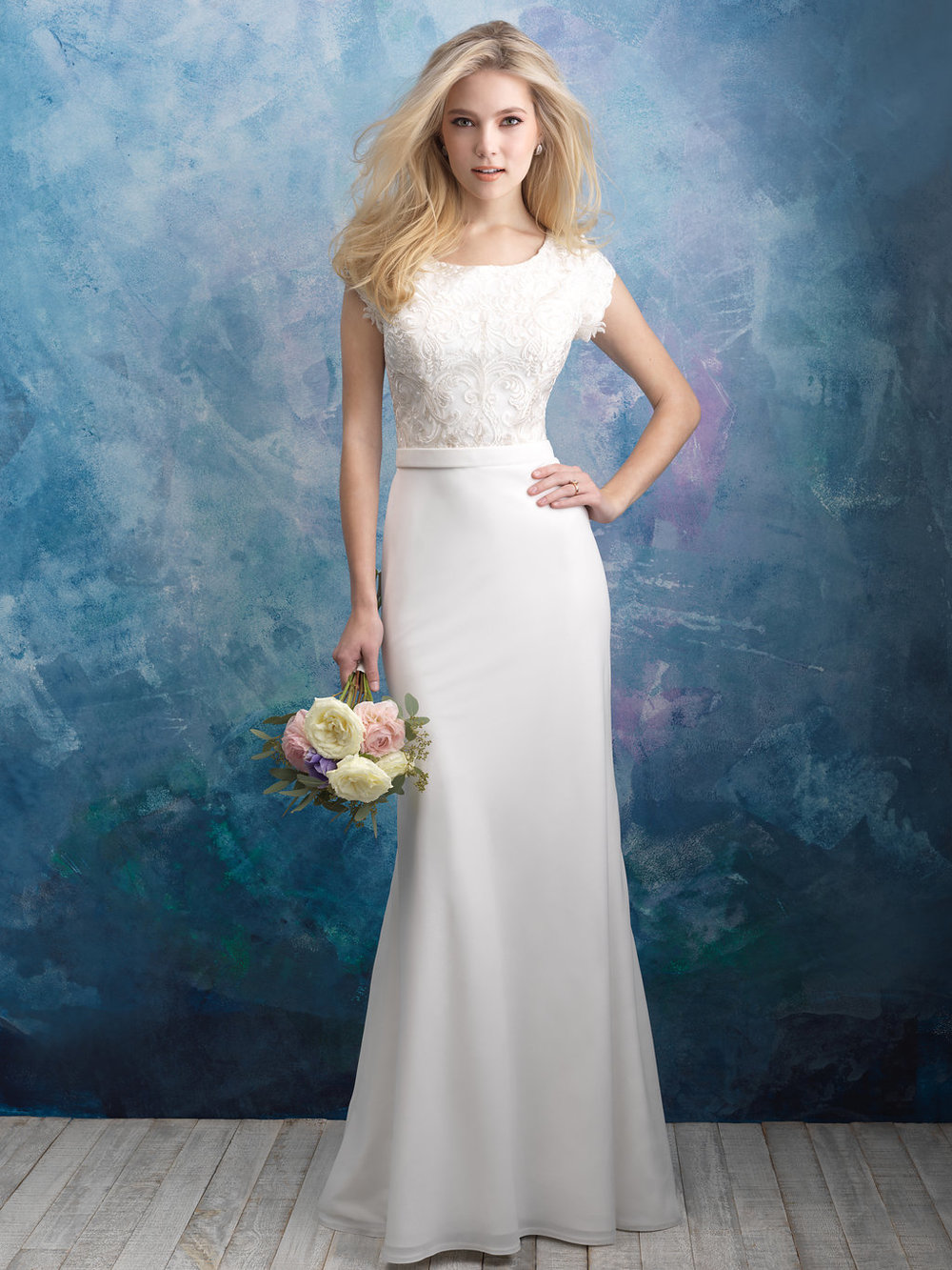 Allure M603 Modest Wedding Dress