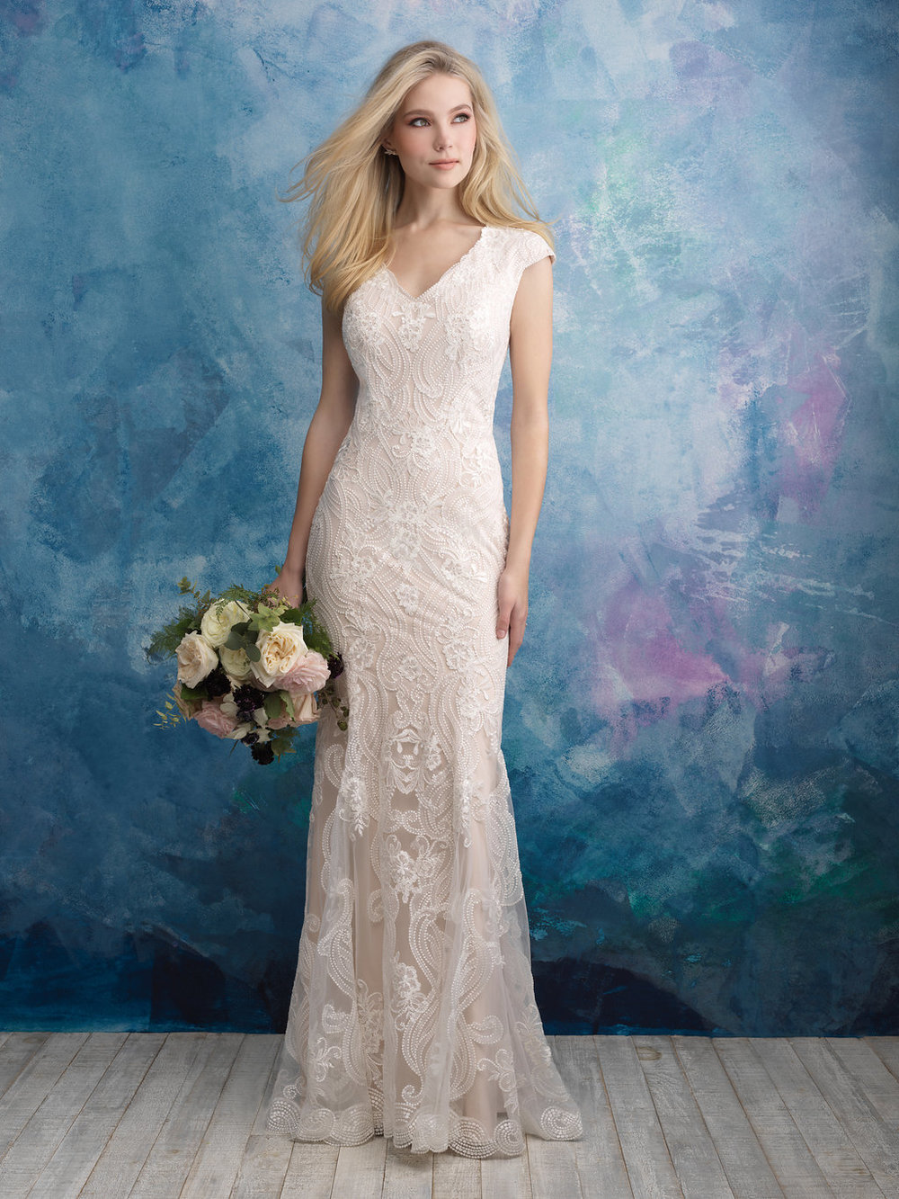 Allure M606 Modest Wedding Dress
