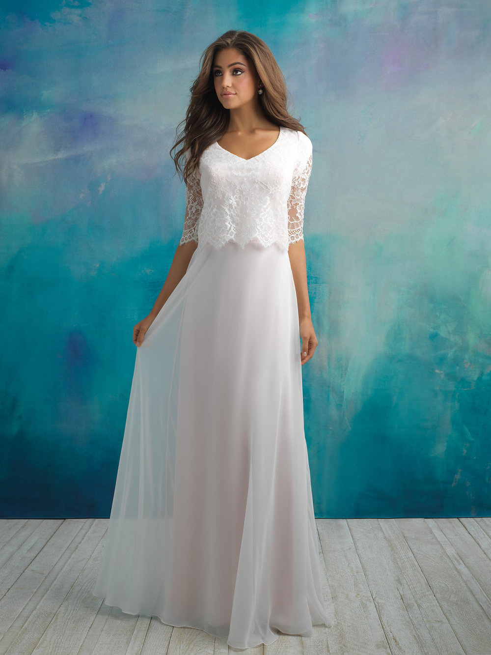 Allure M591 Modest Wedding Dress