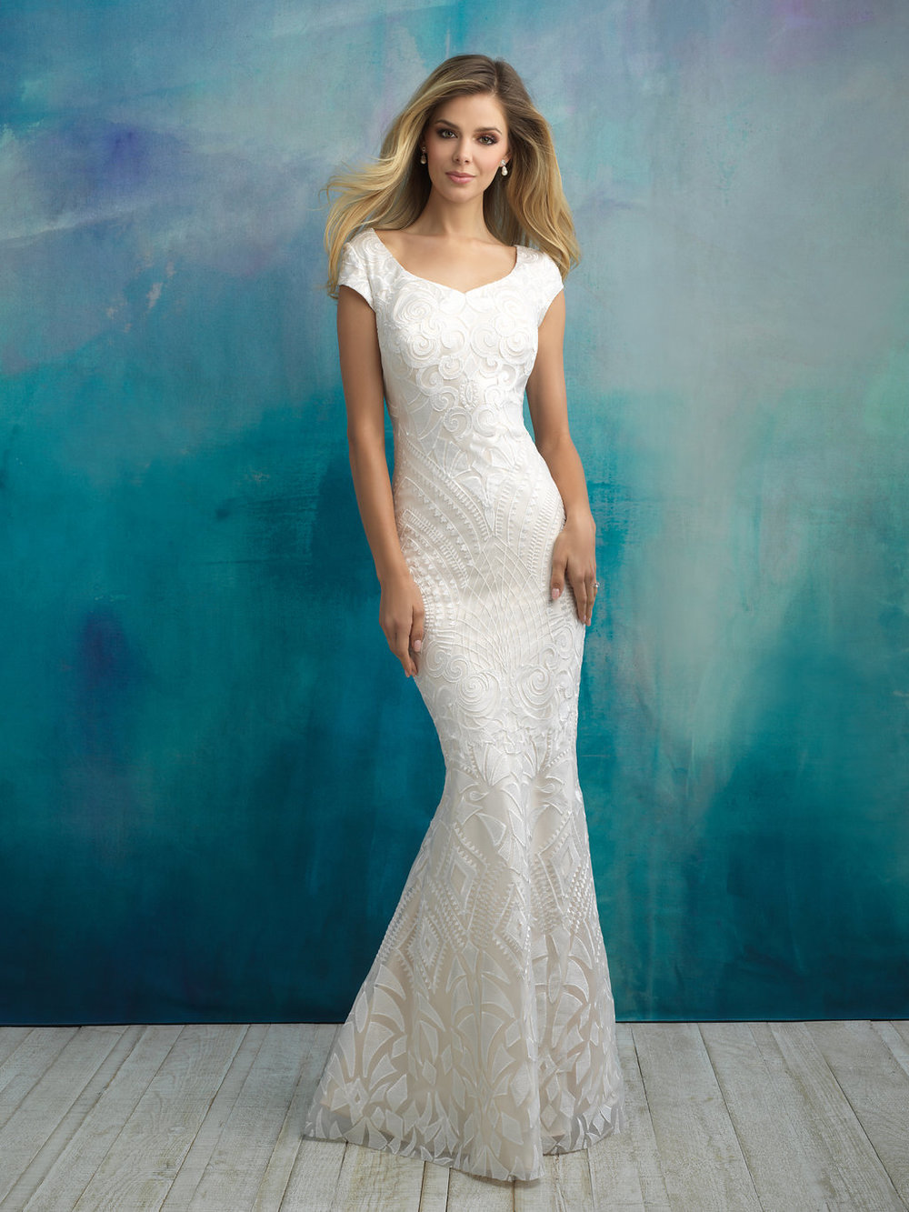 Allure M590 Modest Wedding Dress