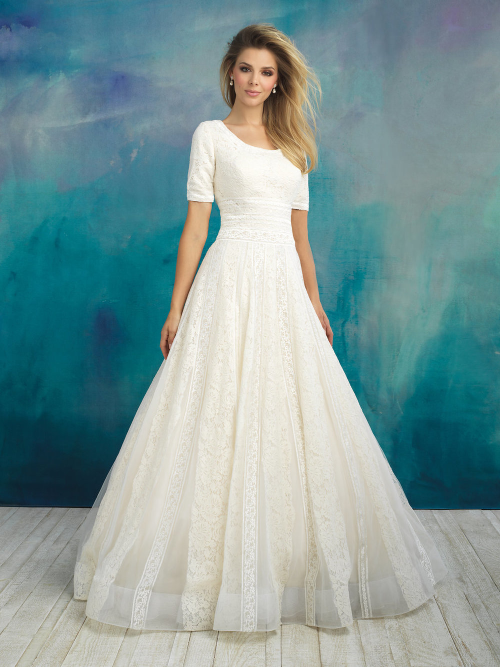 Allure M592 Modest Wedding Dress