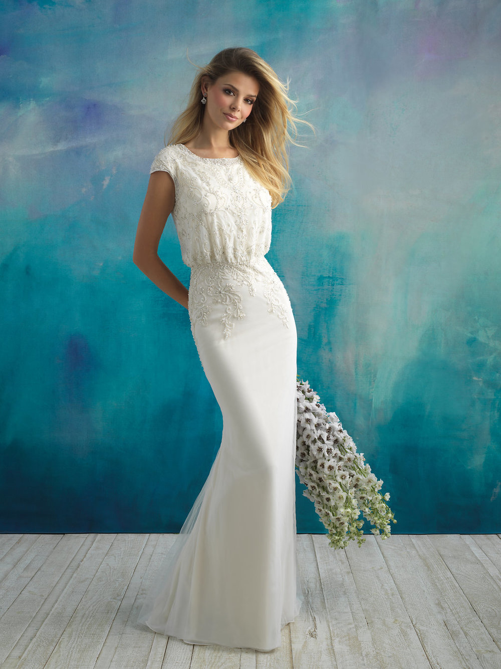 Allure M593 Modest Wedding Dress