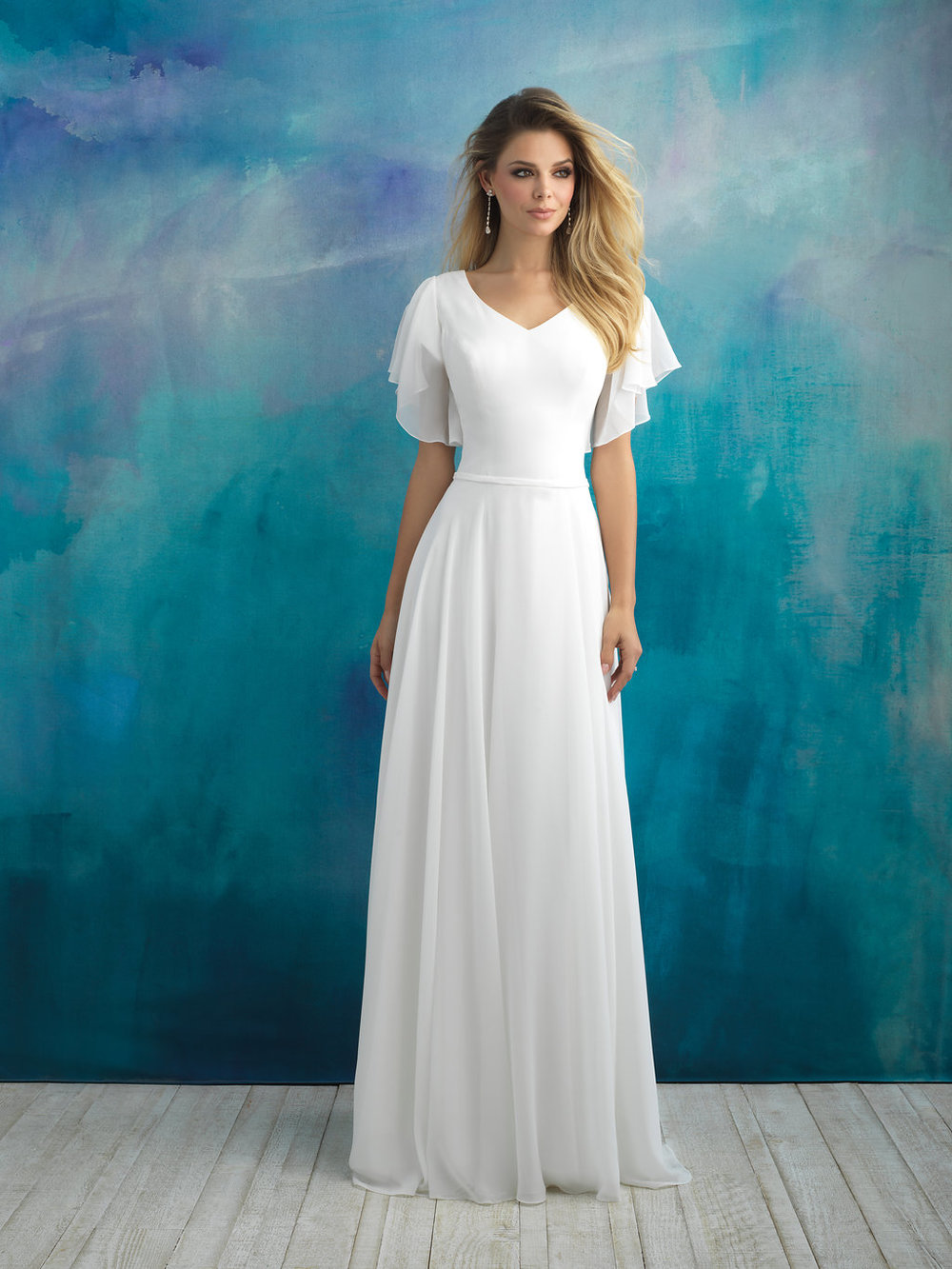 Allure M595 Modest Wedding Dress
