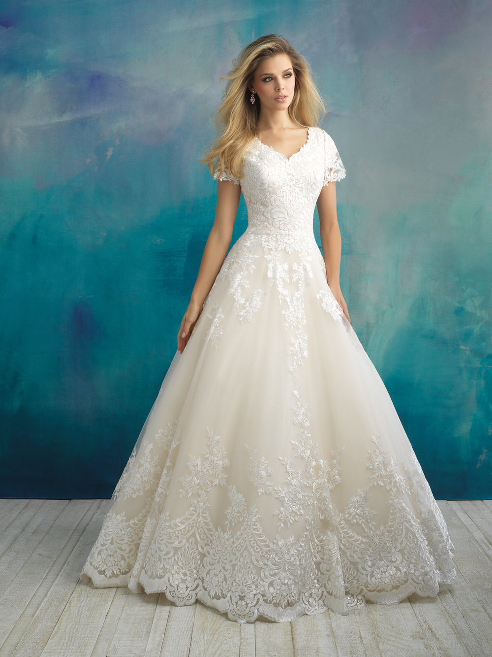 Allure M596 Modest Wedding Dress