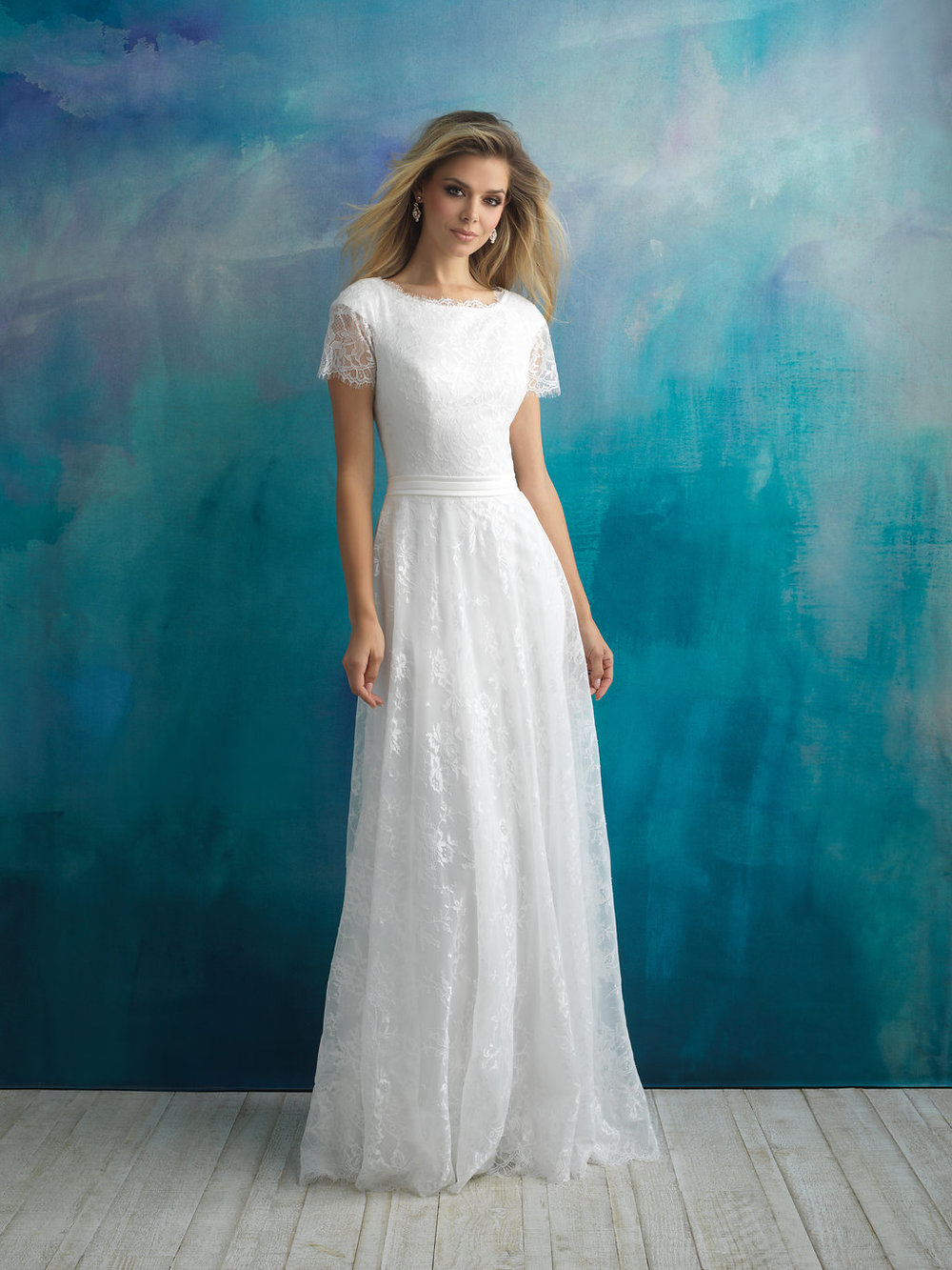 Allure M597 Modest Wedding Dress