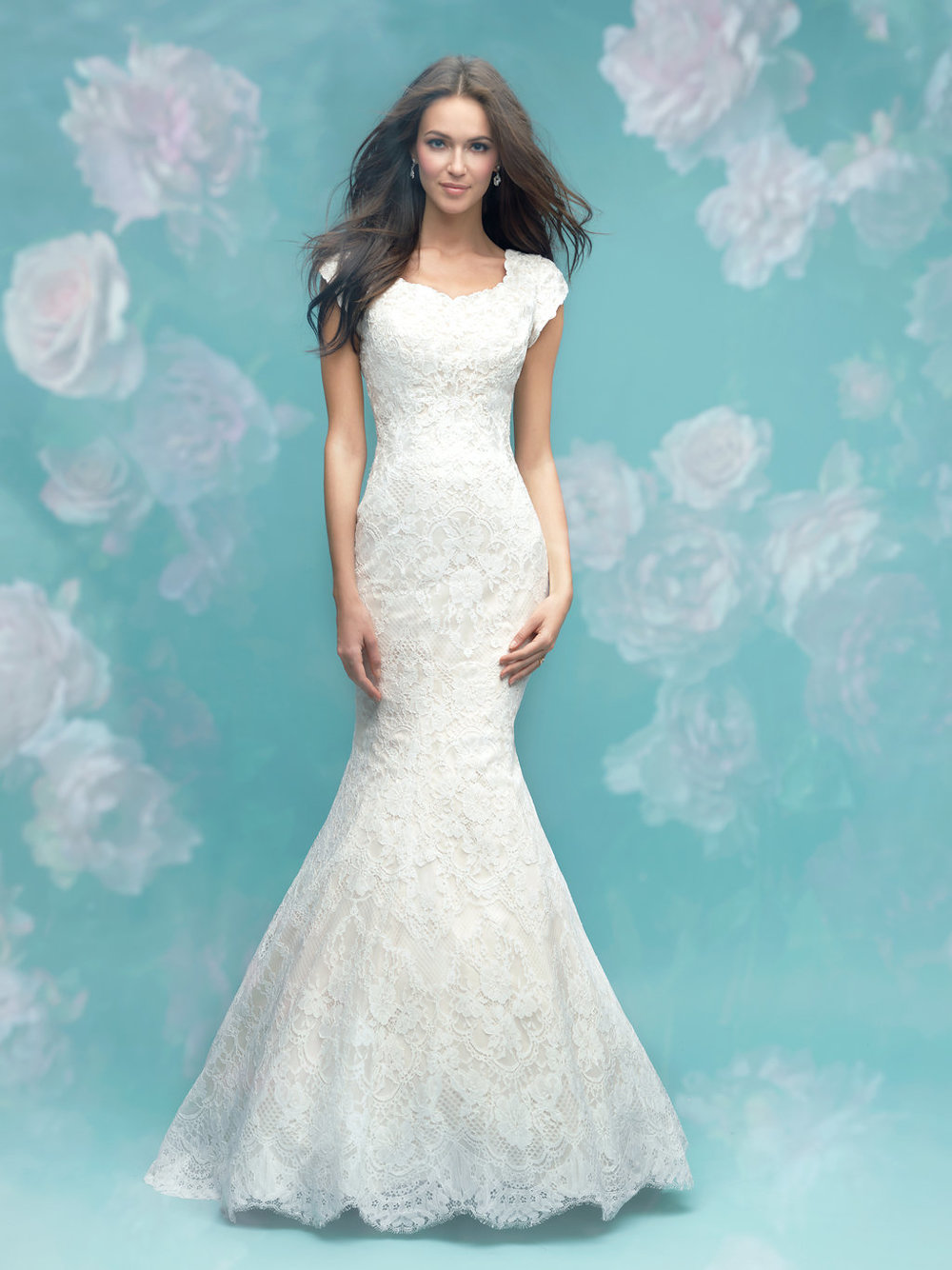 Allure M582 Modest Wedding Dress