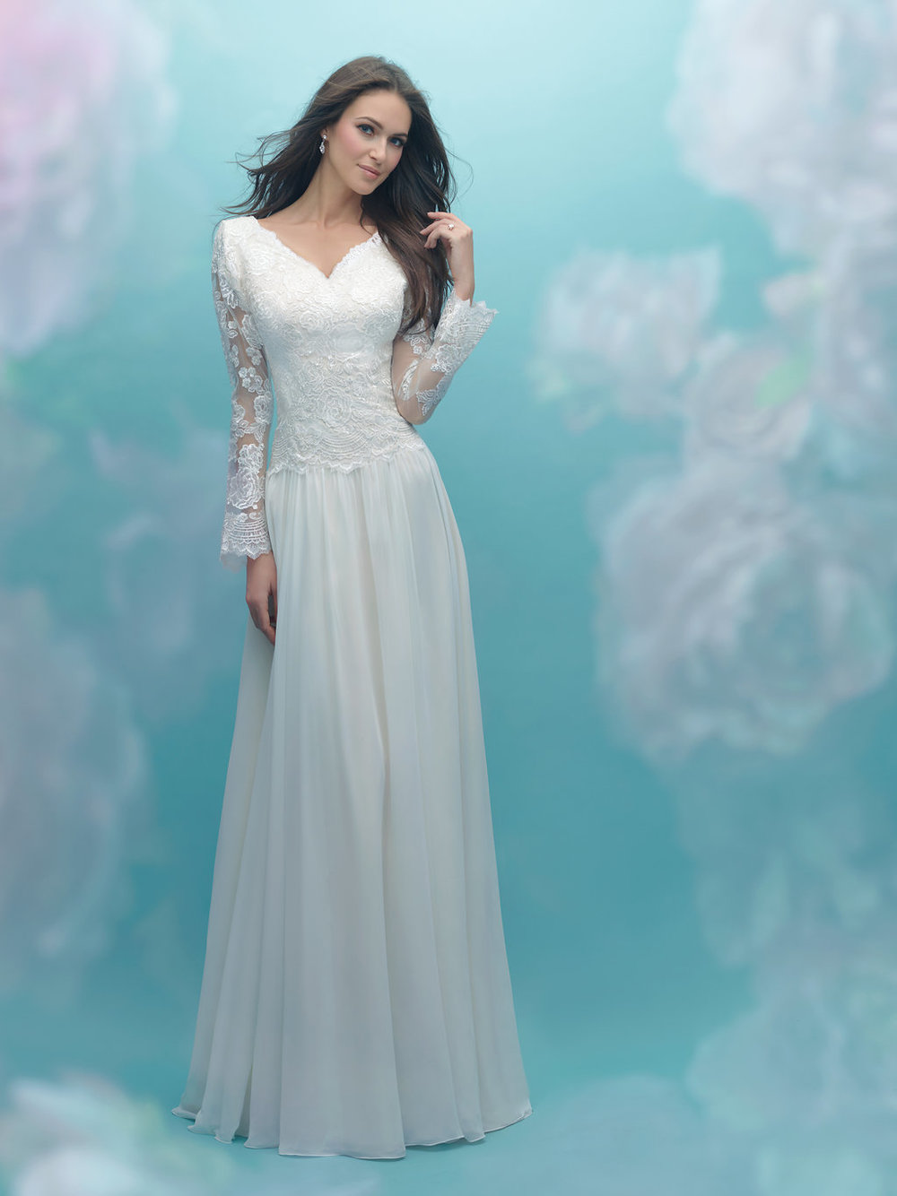 Allure M584 Modest Wedding Dress