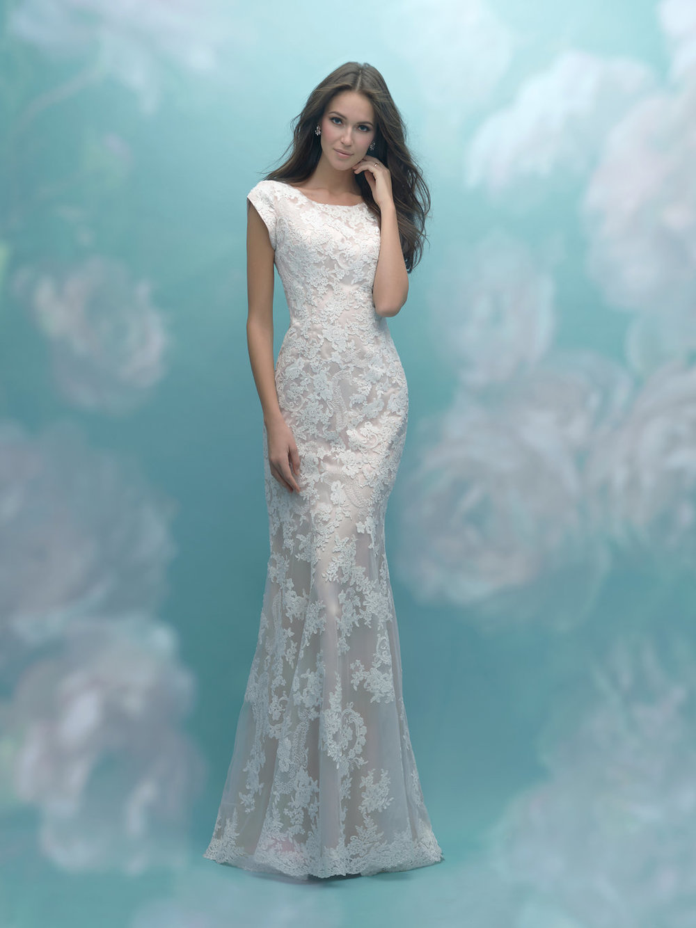 Allure M585 Modest Wedding Dress