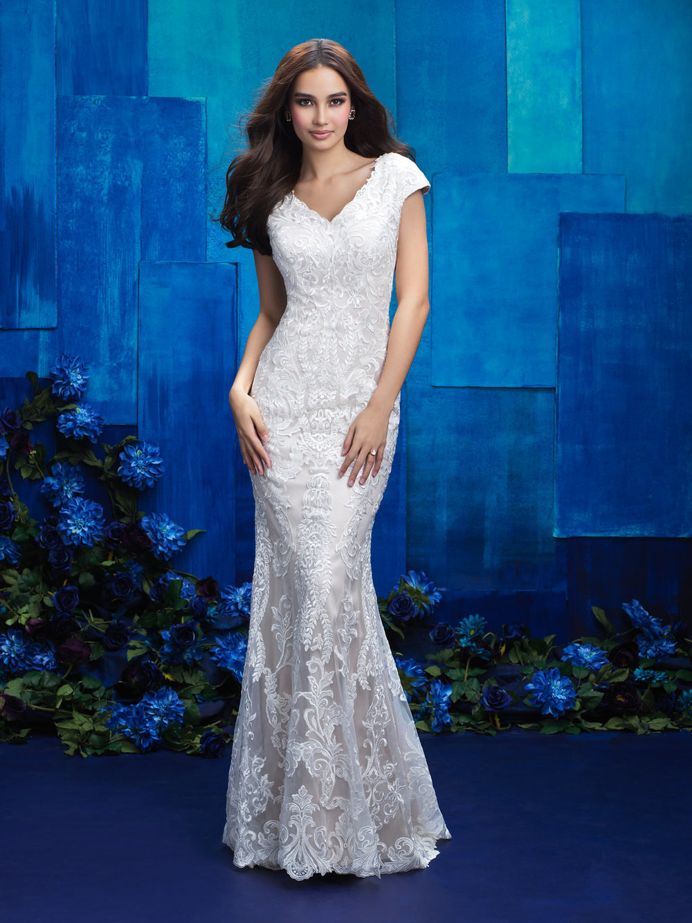 Allure M570 Modest Wedding Dress