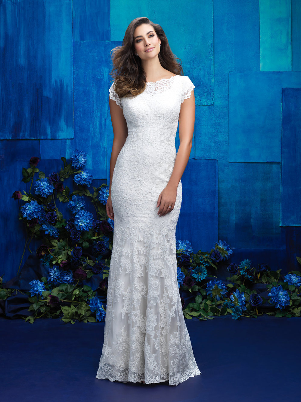 Allure M574 Modest Wedding Gown