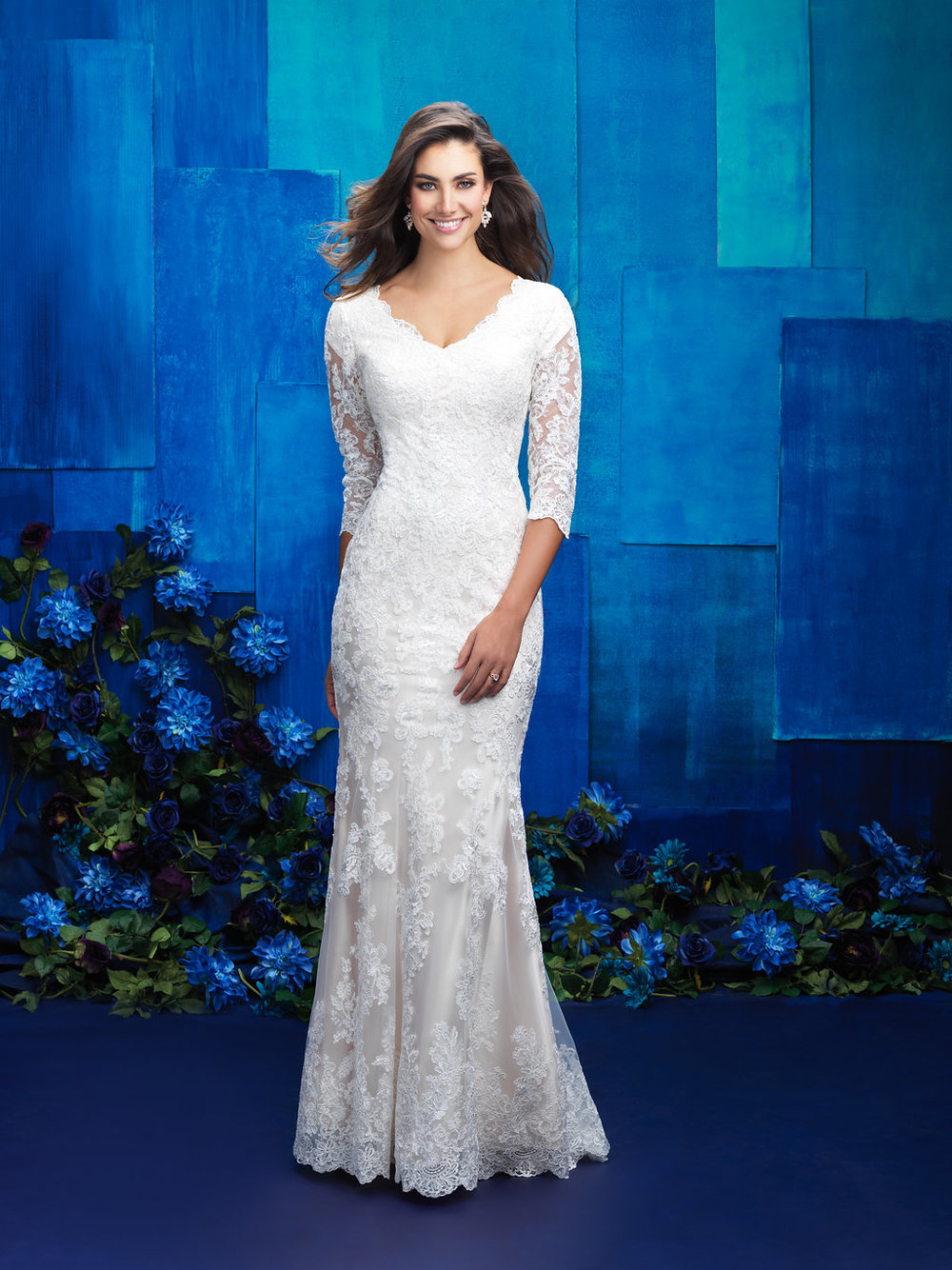 Allure M576 Modest Wedding Gown
