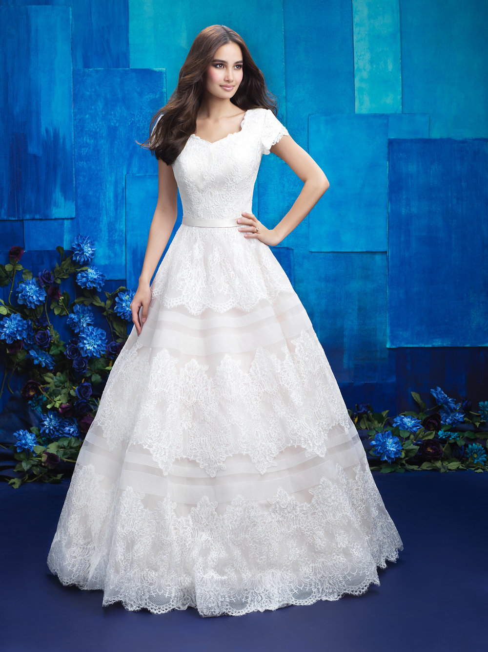 Allure M578 Modest Wedding Gown