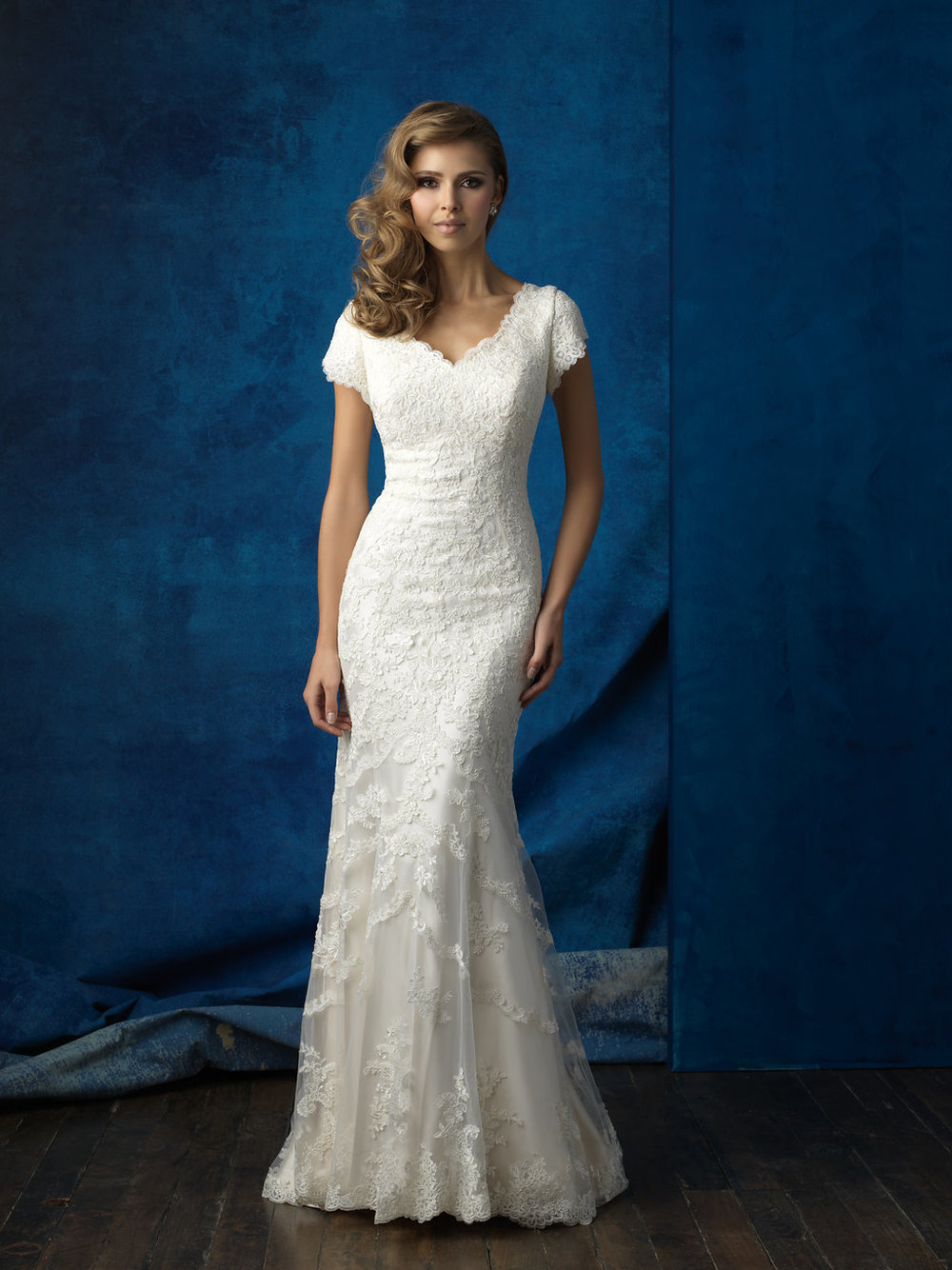 Allure M560 Modest Wedding Gown