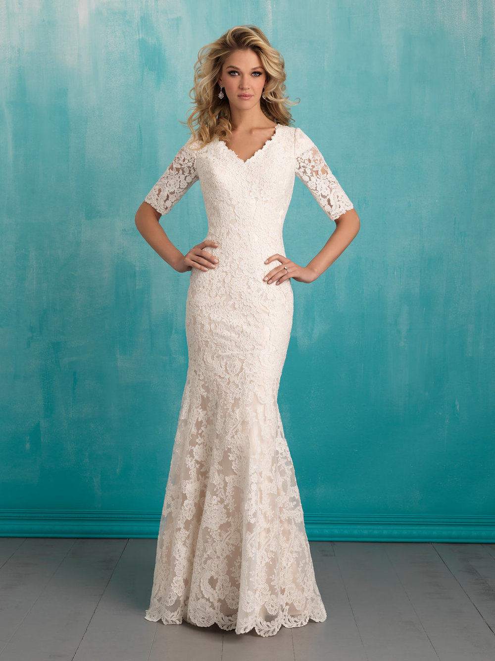 Allure M551 Modest Wedding Gown