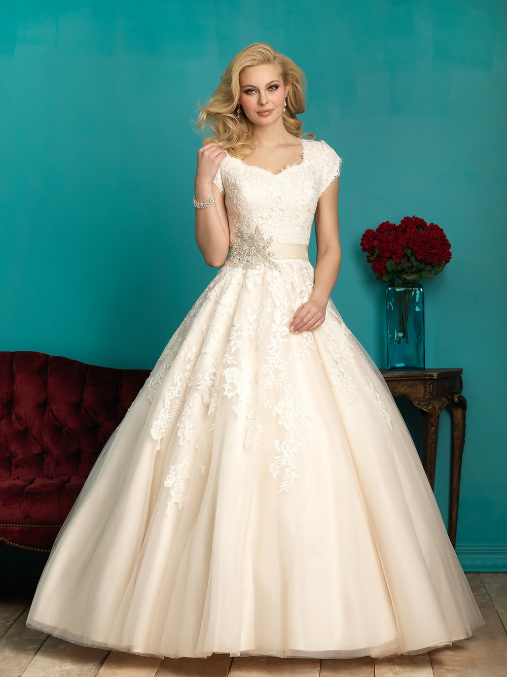 Allure M544 Modest Wedding Dress