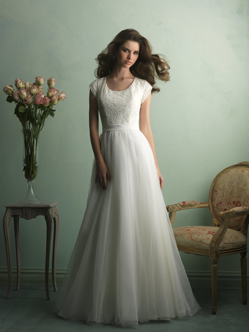 Allure M521 Modest Wedding Gown
