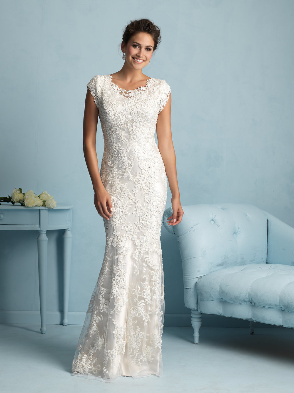 Allure M536 Modest Wedding Gown
