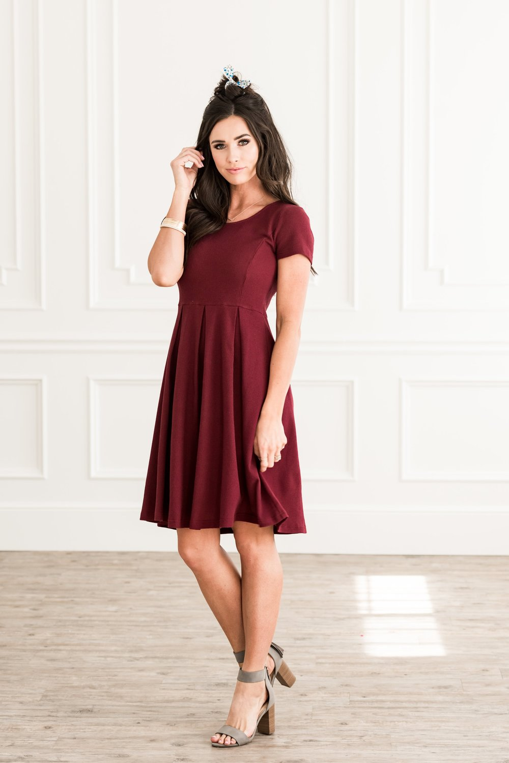 Hazel Dress Burgundy