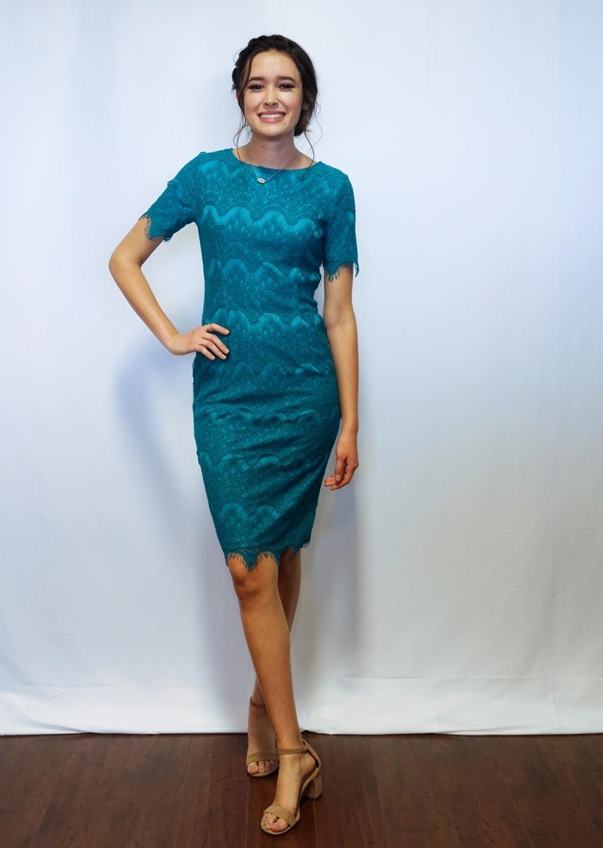Brinley Dress Aqua