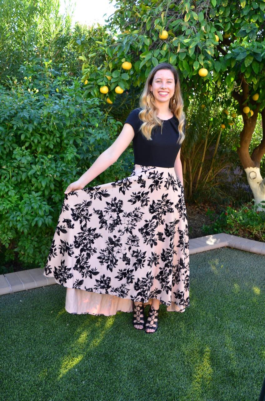 Jody Sophia Black/Pink Floral - $225